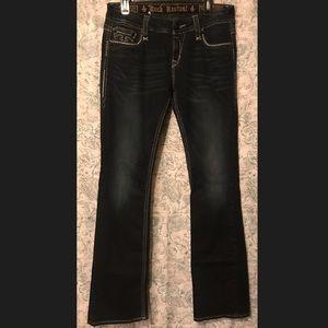 Rock Revival Dark denim easy boot LONG SIZED jeans
